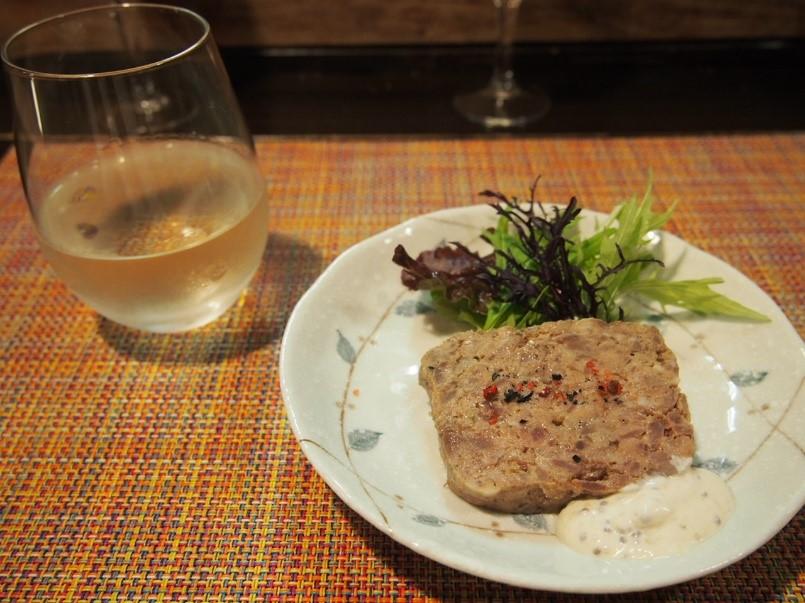 山廃純米とジビエのパテ